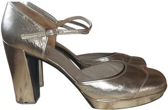 Christian Dior Gold Plastic Heels