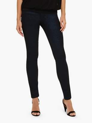 Phase Eight Elissa Glitter Jeans, Cobalt/Black