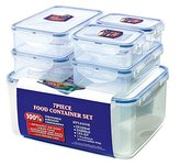 Lock & Lock Storage Container, Clear/Blue, Set of 6