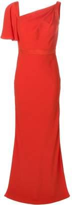 Alexander McQueen Asymmetric Neck Gown