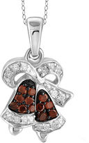 FINE JEWELRY 1/10 CT. T.W. White & Color-Enhanced Red Diamond Sterling Silver Pendant