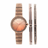 Elgin Womens Rose Goldtone Bracelet Watch-Eg160012rgst