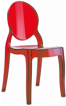 Compamia Baby Elizabeth Kids Chair in Transparent Red