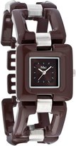 MC M&c Women's Casual Square Self-Adjustable Links Watch