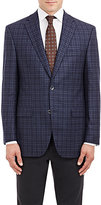 Piattelli MEN'S CHECKED TWO-BUTTON SPORTCOAT