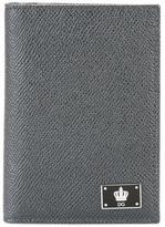 Dolce & Gabbana crown logo plaque wallet - men - Calf Leather - One Size