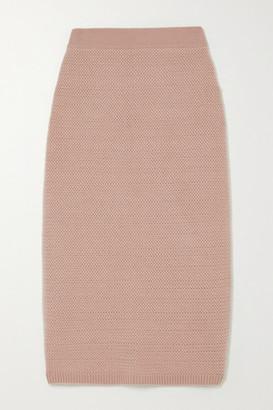 Arch4 Tower Bridge Cashmere Midi Skirt - Antique rose