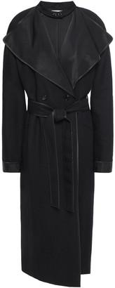 Nina Ricci Wool And Linen-blend Gabardine Trench Coat