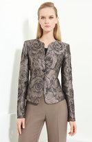 Floral Jacquard Jacket