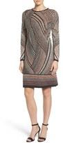 Nic+Zoe Women's Smokey Lines Knit Sheath Dress