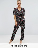 Uttam Boutique Petite Jumpsuit In Floral Print