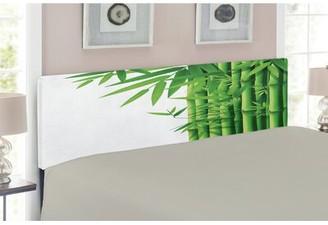 Bamboo Upholstered Panel Headboard East Urban Home Size: Twin