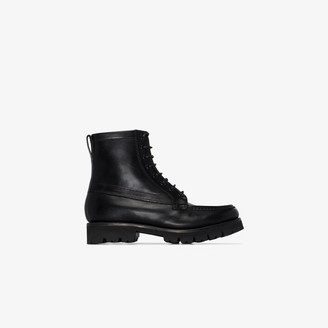 Grenson Harper lace-up leather ankle boots