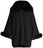 Sofia Cashmere Fox Fur Cuff & Collar Cashmere Coat