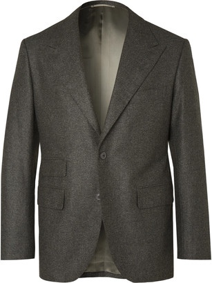 Camoshita + Vitale Barberis Canonico Dark-Grey Wool Suit Jacket