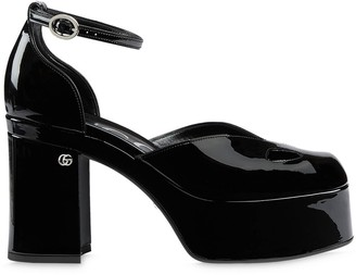 Gucci Ankle-Strap Platform Pumps