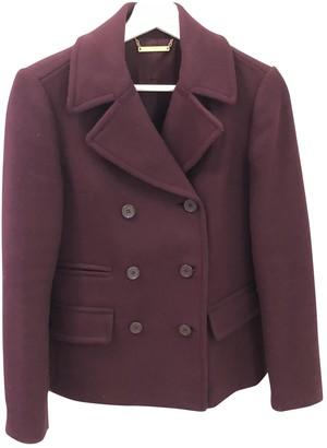 Diane von Furstenberg Burgundy Wool Coats