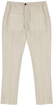J. Lindeberg Sasha sand linen trousers