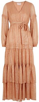 SUNDRESS Estelle Lame-weave Cotton Maxi Dress