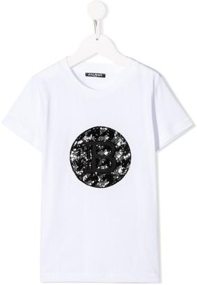 Balmain Kids sequinned T-shirt
