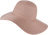 Accessorize Rose Gold Stripe Floppy Hat