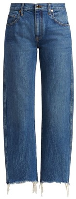KHAITE Gabbie Raw-Hem Jeans