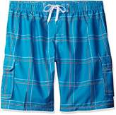 Kanu Surf Men's Big Flex Extended Size Plaid Swimtrunk