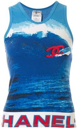 Chanel Pre Owned Surf Line vest top