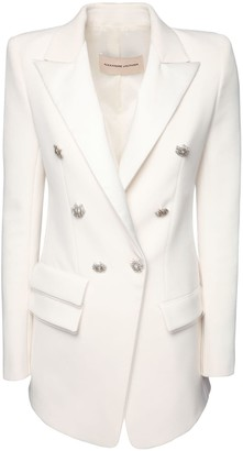 Alexandre Vauthier Double Breasted Crepe Long Blazer