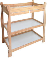 Badger Basket Company Sleigh Changing Table - Natural