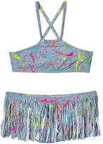 Pilyq Fringe Painted Bikini Set