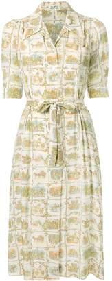 Hermes Pre Owned Victorian illustration dress