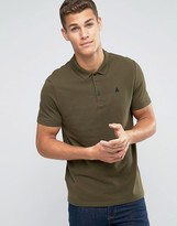 Asos Muscle Fit Polo Shirt With Logo In Green