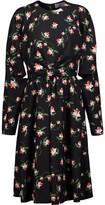 Preen by Thornton Bregazzi Aaron Cutout Knotted Floral-Print Crepe Midi Dress
