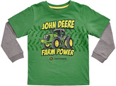 John Deere Green 'Farm Power' Double-Layer Tee - Boys