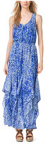 Michael Kors Tie-Dye Ruffled Tank Dress