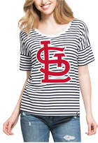 '47 Women's St. Louis Cardinals Coed Stripe T-Shirt