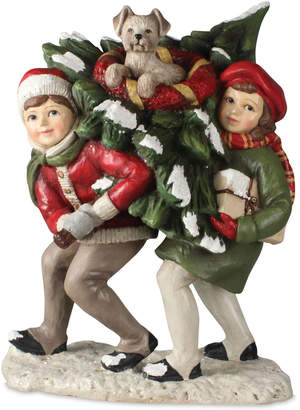 Bethany Lowe Bringing Home the Tree Christmas Decor Statue