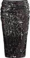 Donna Karan Black and silver sequin skirt