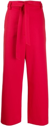 Barena High-Waisted Belted Trousers