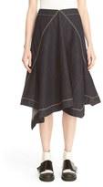 Marni Women's Asymmetrical Front Denim Skirt