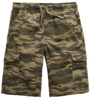 Epic Threads Toddler Boys Camouflage Textured Canvas Cargo Shorts, Created for Macy's