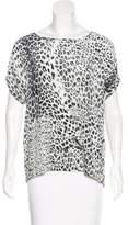 Pierre Balmain Silk Short Sleeve Top