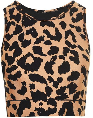 Biba Active Leopard Crop Top