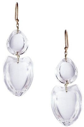 Ten Thousand Things 18K Yellow Gold & Crystal Double Heart Earrings