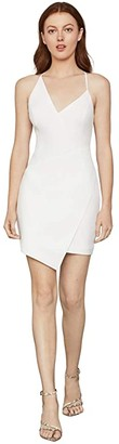 BCBGMAXAZRIA Asymmetrical Hem Cocktail Dress (Off-White) Women's Dress