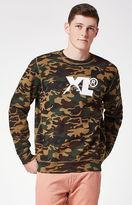 XLarge XL Camo Crew Neck Sweatshirt