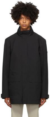 Ermenegildo Zegna Black Soft Shell Bomber Jacket Lining Coat