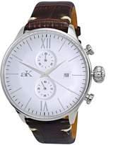 Adee Kaye Men's Contour 44.86mm Brown Leather Band Quartz Watch AKX2376-CMSV