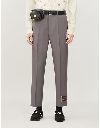Gucci Straight-fit woven trousers